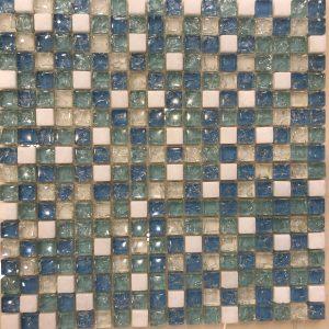 Gạch mosaic thủy tinh trộn màu 18