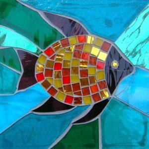Gạch mosaic thủy tinh trộn màu 74