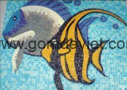 Gạch mosaic thủy tinh trộn màu 76
