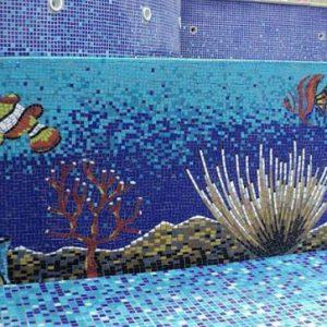 Gạch mosaic thủy tinh trộn màu 77