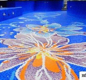 Gạch mosaic thủy tinh trộn màu 81