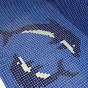 Gạch mosaic thủy tinh trộn màu 83