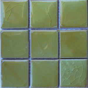 Gạch mosaic men rạn đơn màu 100×100 01