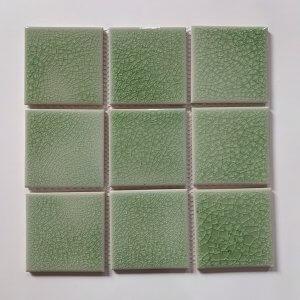 Gạch mosaic men rạn đơn màu 100×100 02
