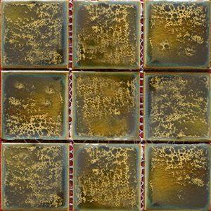 Gạch mosaic men rạn đơn màu 100×100 05