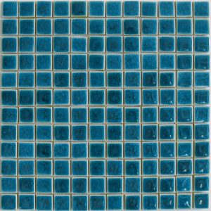 Gạch mosaic men rạn đơn màu 23×23 12