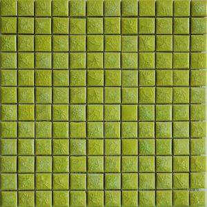 Gạch mosaic men rạn đơn màu 23×23 06