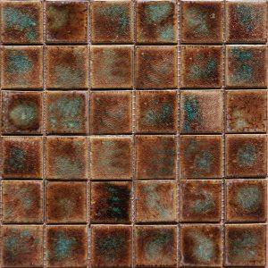 Gạch mosaic men rạn đơn màu 50×50 10