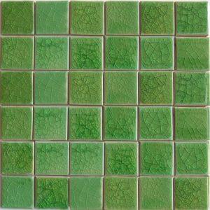 Gạch mosaic men rạn đơn màu 50×50 15