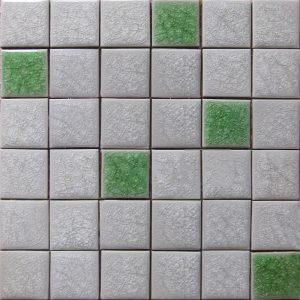 Gạch mosaic men rạn trộn màu 50×50 01