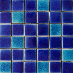 Gạch mosaic men rạn trộn màu 50×50 10