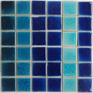 Gạch mosaic men rạn trộn màu 50×50 11
