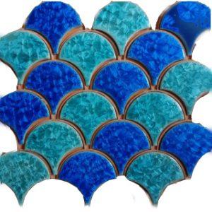 Gạch mosaic men rạn trộn màu 50×50 12