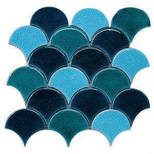 Gạch mosaic men rạn trộn màu 50×50 14
