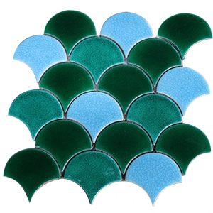 Gạch mosaic men rạn trộn màu 50×50 15