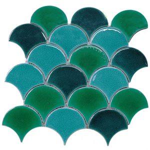 Gạch mosaic men rạn trộn màu 50×50 16