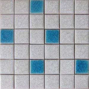 Gạch mosaic men rạn trộn màu 50×50 02