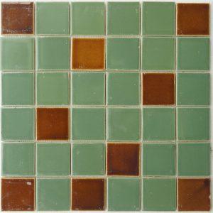 Gạch mosaic men rạn trộn màu 50×50 03