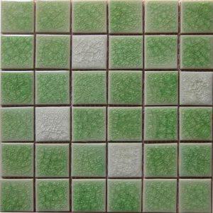Gạch mosaic men rạn trộn màu 50×50 04
