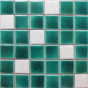 Gạch mosaic men rạn trộn màu 50×50 05