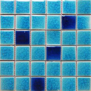 Gạch mosaic men rạn trộn màu 50×50 06
