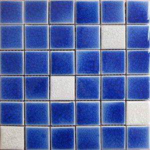 Gạch mosaic men rạn trộn màu 50×50 09