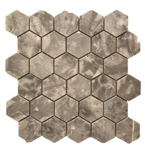 Mosaic đá tự nhiên lục giác – hình thoi 01