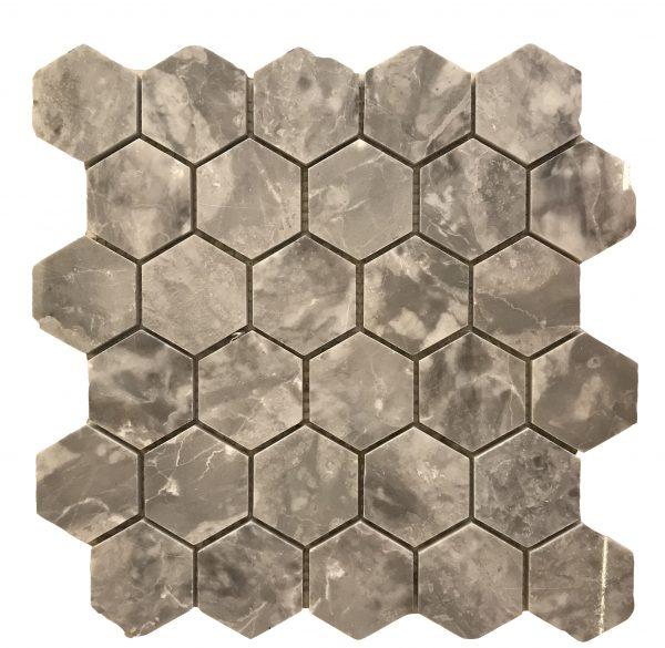 Mosaic da tu nhien luc giac hinh thoi 1