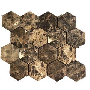 Mosaic đá tự nhiên lục giác – hình thoi 10
