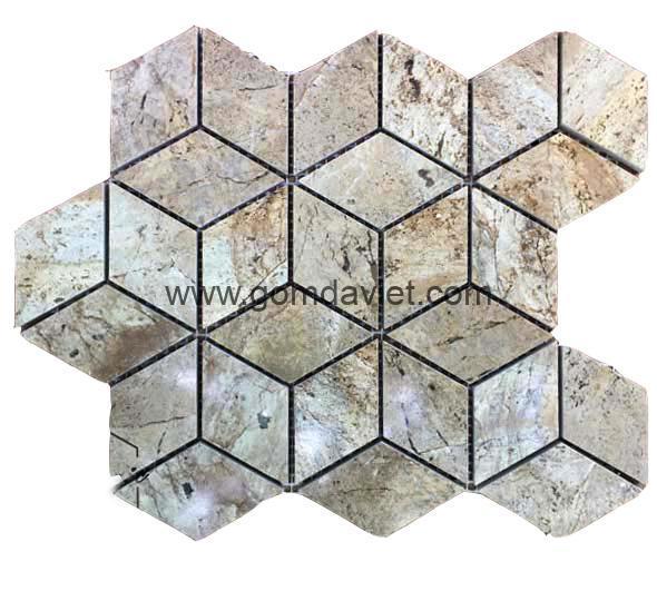 Mosaic da tu nhien luc giac hinh thoi 11