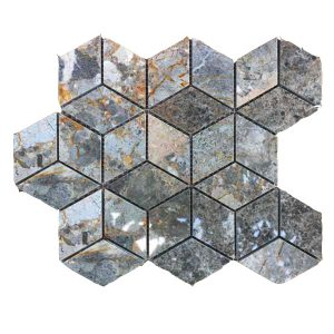 Mosaic đá tự nhiên lục giác – hình thoi 12