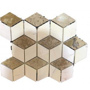 Mosaic đá tự nhiên lục giác – hình thoi 14