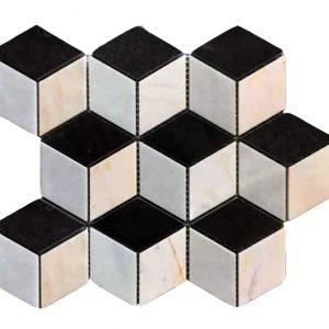 Mosaic đá tự nhiên lục giác – hình thoi 17