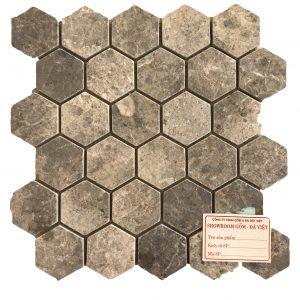 Mosaic đá tự nhiên lục giác – hình thoi 02