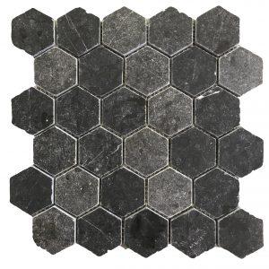 Mosaic đá tự nhiên lục giác – hình thoi 03