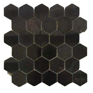 Mosaic đá tự nhiên lục giác – hình thoi 04