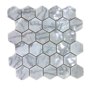 Mosaic đá tự nhiên lục giác – hình thoi 05