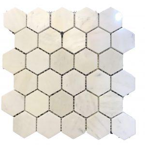 Mosaic đá tự nhiên lục giác – hình thoi 06