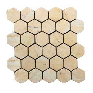 Mosaic đá tự nhiên lục giác – hình thoi 07