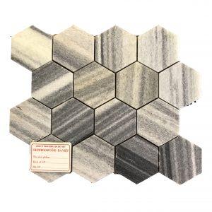 Mosaic đá tự nhiên lục giác – hình thoi 09
