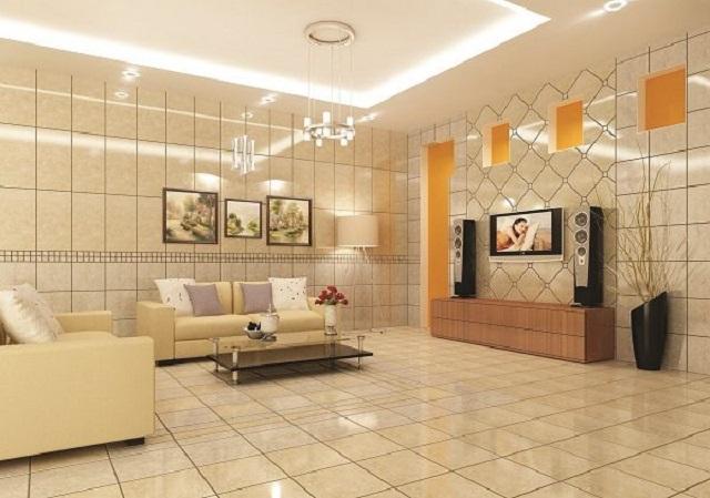 Gạch ốp tường phòng khách tốt cho sức khỏe con người