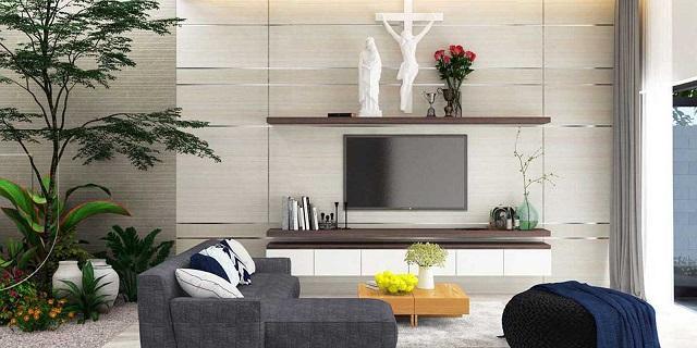 Trang trí ốp tường cho phòng khách