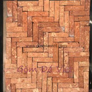 Gạch ốp tường giả cổ 04 – Gạch cổ cắt Miền Tây Mặt Lõi