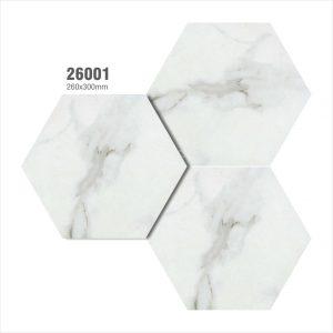 Gạch bông lục giác 11 – Trắng vân đá