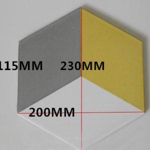 Gạch bông lục giác 13 – Trám vàng