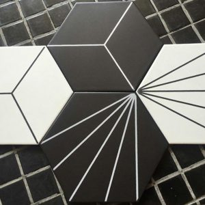 Gạch bông lục giác 16 – Mix