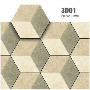 Gạch bông lục giác 20 – Màu gỗ