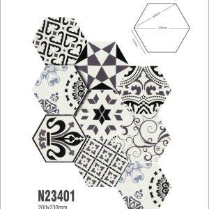 Gạch bông lục giác 25 – Rối màu