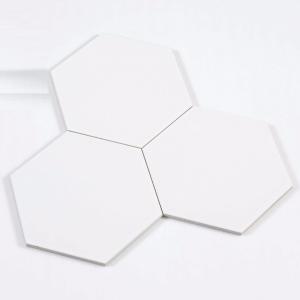 Gạch bông lục giác 03 – Trắng sứ