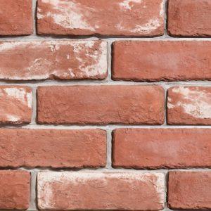 Gạch ốp tường giả cổ 25 – Đỏ tươi